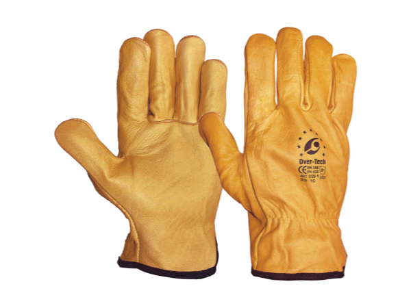 LEATHER GLOVES Yellow